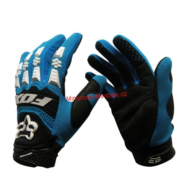 a27924820 Moto rukavice FOX modré