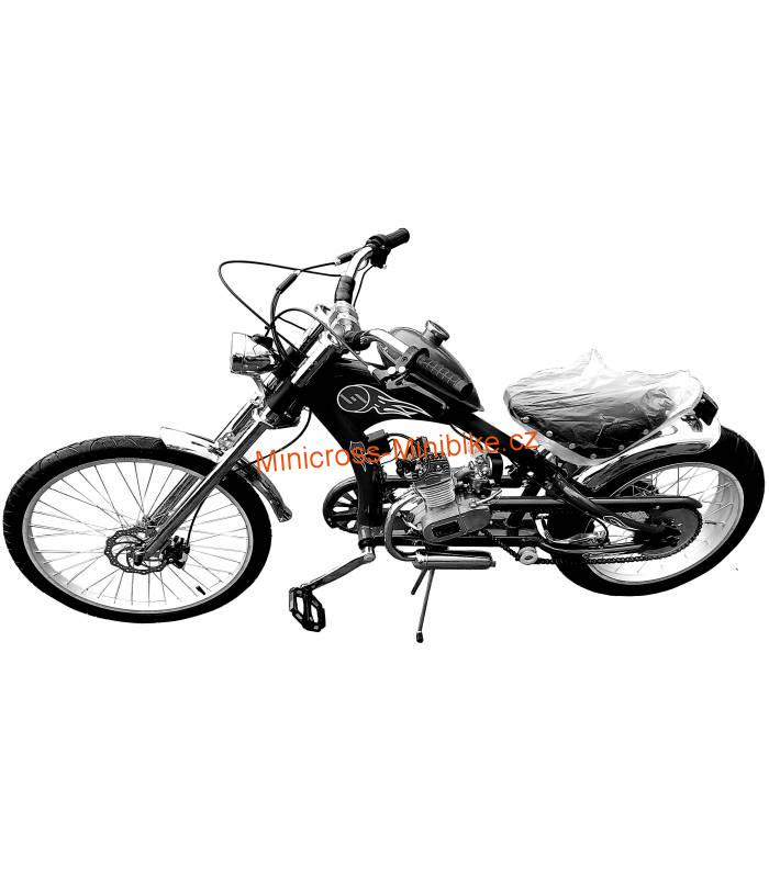 Moto kolo Chopper 80cc black