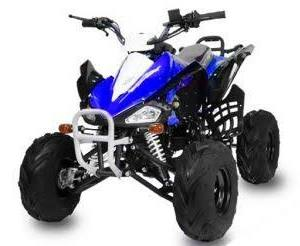 "Mini ATV Speed 125 modrá 7"" kola"