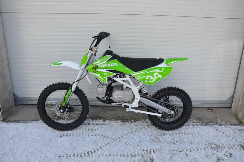 Dirtbike Monster 17/14 125ccm zelený